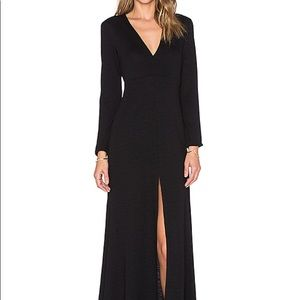 Lanston Long Sleeve Knit Sexy Maxi dress